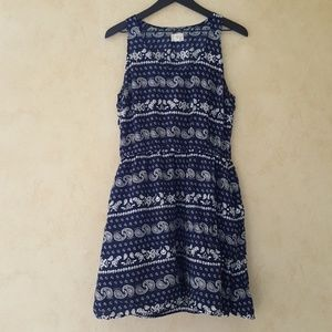Levi's navy blue bandana print dress size large
